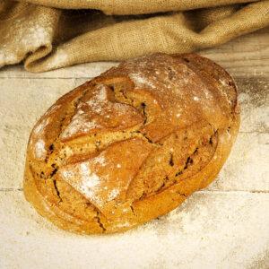 pane cuore di segale sobon biologico alla segale integrale e tipo 2 macinate a pietra e 100% lievito madre.