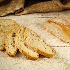 """pane senza sale sobon alla farina di grano tenero tipo """"0"""" e 100% lievito madre"""