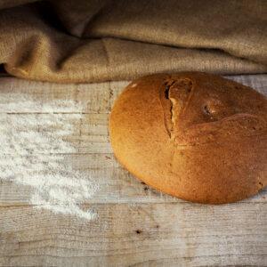 Sobon pane virgo con olio extravergine d'oliva e sale marino integrale, da agricoltura biologica con grani teneri tipo 2 macinati a pietra.