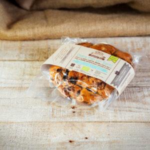 Sobon pan co' Santi dolce con noci, uvetta e spezie da agricoltura biologica, farine Virgo di grani antichi.